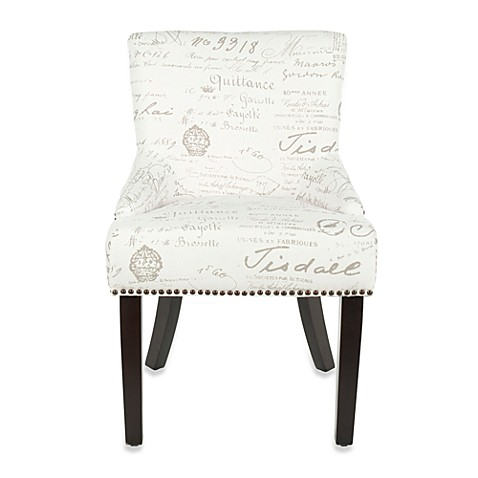 Safavieh Lotus White and Grey Side Chair (Set of 2)