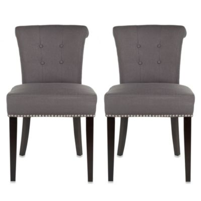 Safavieh Sinclair Grey Side Chair (Set of 2)