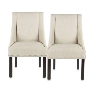 Safavieh Morris Beige Side Chair (Set of 2)