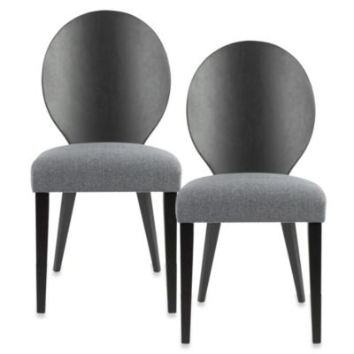 Safavieh Roxanne Side Chair in Grey/Black (Set of 2)