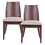 Safavieh Jed Side Chairs in Beige/Walnut