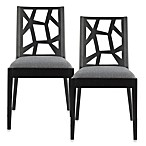 Safavieh Adrian Side Chair in Grey/Black (Set of 2)