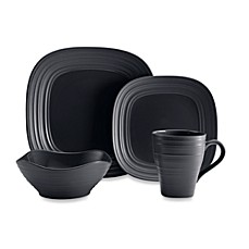 Mikasa® Swirl Square 4-Piece Place Setting in Graphite