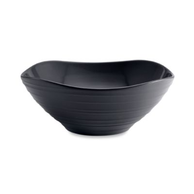 Mikasa® Swirl Graphite 9-Inch Square Vegetable Bowl