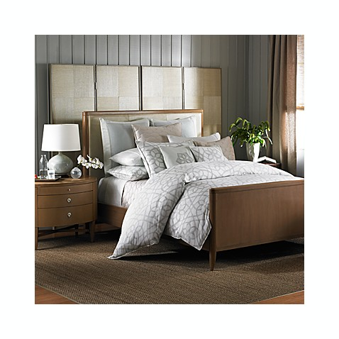 Barbara Barry® Sanctuary Scroll Duvet Cover, 100% Cotton