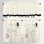Postale Cafe Window Curtain Tiers