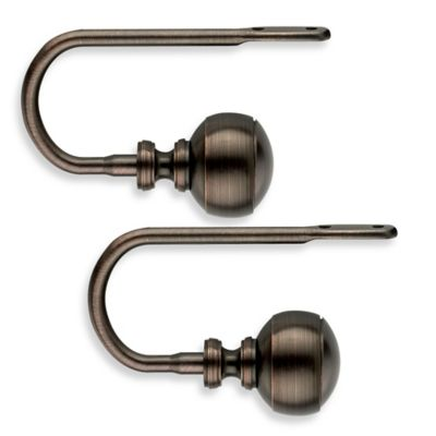 Cambria® Transitions® Banded Ball Drapery Holdbacks in Oil Rubbed Bronze (Set of 2)