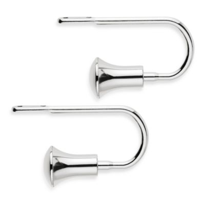 Transitions Flare Polished Nickel Holdbacks (Set of 2)
