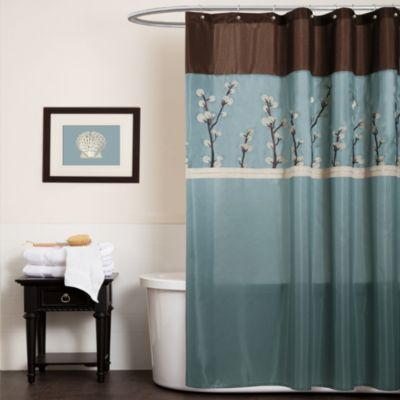 Faux Silk Shower Curtain