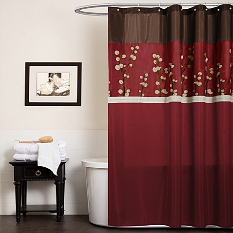 Orange And Brown Curtains Teal and Brown Shower Curtain