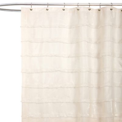 Beige Fabric Shower Curtain