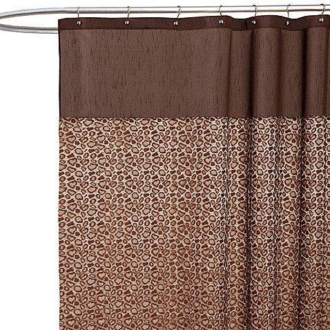 Leopard Brown Fabric Shower Curtain