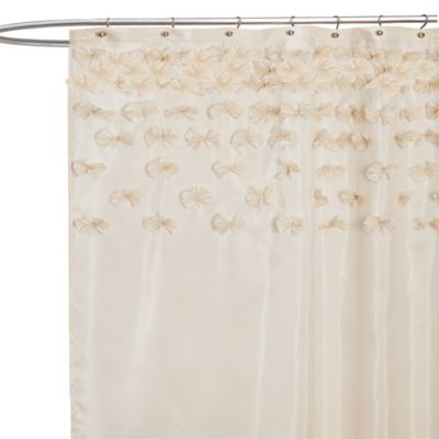 Ivory Fabric Shower Curtain