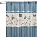 Monica Blue Fabric Shower Curtain