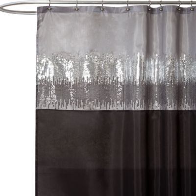 Night Sky Black and Grey 72-Inch x 72-Inch Shower Curtain