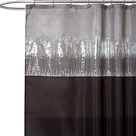 Iron Curtain Water Filter White Grey Shower Curtain