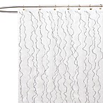 Romana Fabric Shower Curtain in White