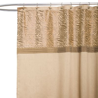 Tan Polyester Shower Curtain