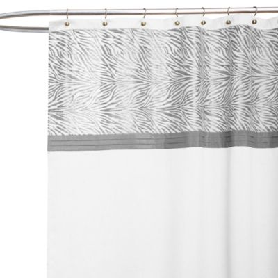72 White Fabric Shower Curtain