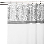 Serengeti White Fabric Shower Curtain