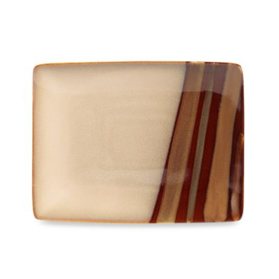 Sango® Avanti Small Rectangular Serving Platter in Brown