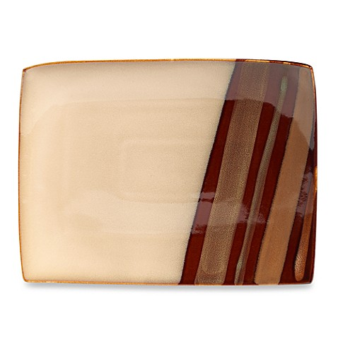 Sango® Avanti Large Rectangular Serving Platter in Brown