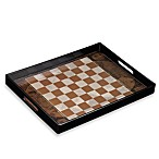 Brown Checker Serving Tray