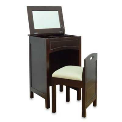 Cheswick Vanity Storage Unit and Seat in Espresso