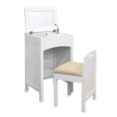 Cheswick Vanity Storage Unit and Seat in White