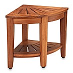 Solid Teak Corner Stool for Shower and Bathroom