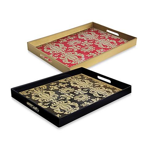 Notions fleur de lis rectangular rectangular serving trays bed bath beyond - Fleur de lis serving tray ...