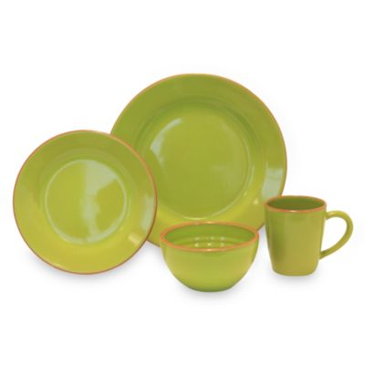 Baum Costa Del Sol 4-Piece Place Setting in Lime