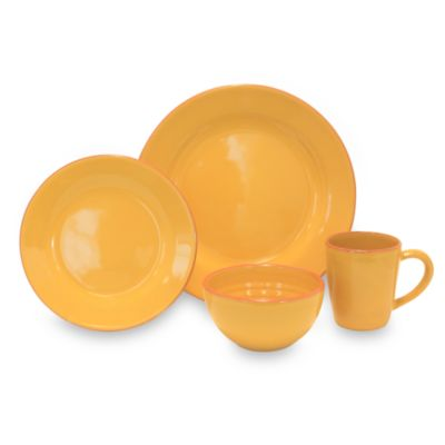 Baum Costa Del Sol 4-Piece Place Setting in Yellow