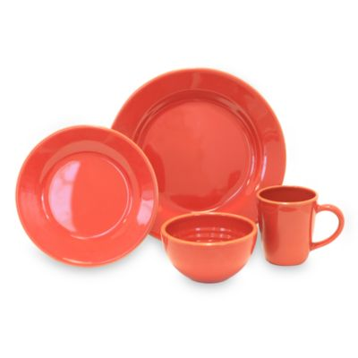 Baum Costa Del Sol 4-Piece Place Setting in Red