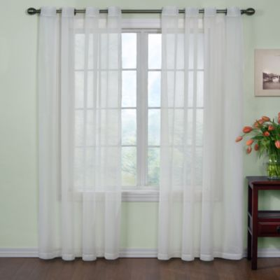 Arm & Hammer™ Curtain Fresh™ Odor Neutralizing 108-Inch Sheer Curtain Panel in Latte