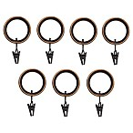 Umbra® Duala Espresso Clip Rings (Set of 7)