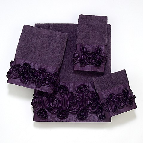 "Avanti Rose Iris Wash Cloth - 12"" x 12"""
