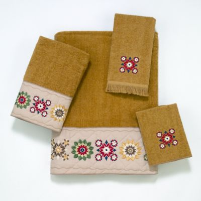 Avanti Country Patterns Fingertip Towel in Nutmeg