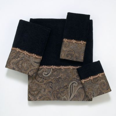 Avanti Bradford Washcloth in Balck