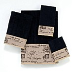Avanti Passport 12-Inch x 12-Inch Washcloth in Black