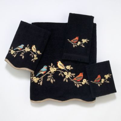 Avanti Countryside Black Washcloth