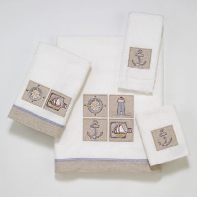 Avanti Saybrook Fingertip Towel in White