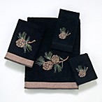 Avanti Pineville Bath Towels in Black