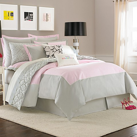 kate spade new york Spring Street Duvet Cover in Lilac