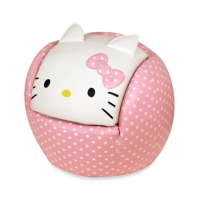 Hello Kitty® Peek-a-Boo Chair and Ottoman