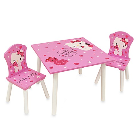 Hello kitty table and chairs set bed bath beyond for Table exterieur hello kitty