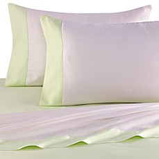 kate spade new york Spring Street Twin Sheet Set in Lime Cream