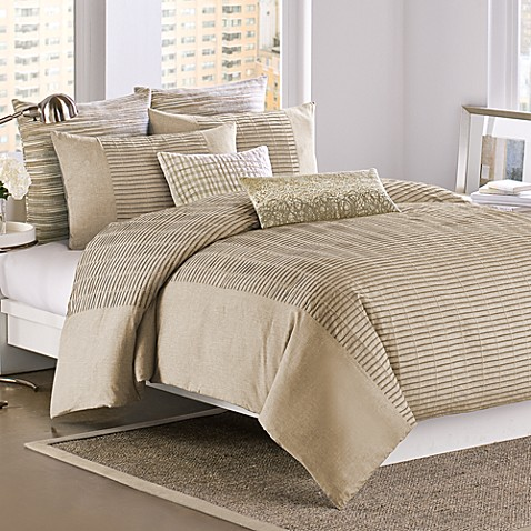 DKNY® City Rhythm Duvet Cover, 100% Cotton - Linen