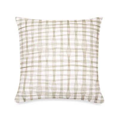 DKNY City Rhythm Plaid Square Toss Pillow in Linen