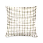 DKNY® City Rhythm Plaid Square Toss Pillow in Linen